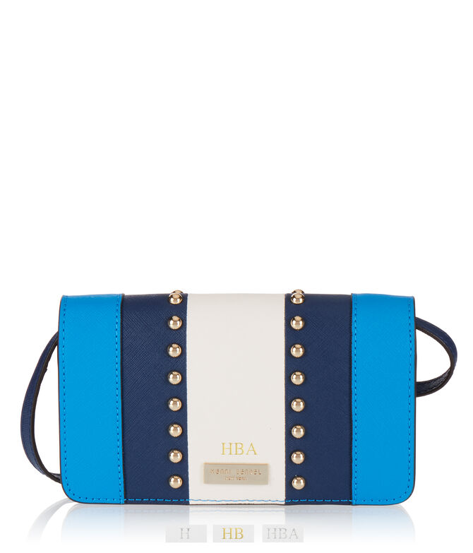 West 57th Stripe Studded XL Smartphone Crossbody