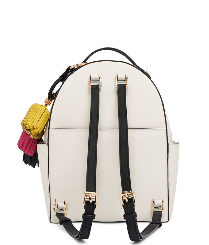 West 57th Straw Tassel Backpack