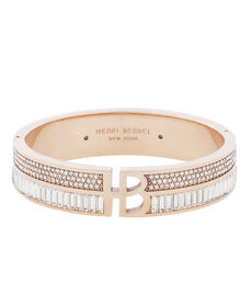 Deco Split Crystal Bangle