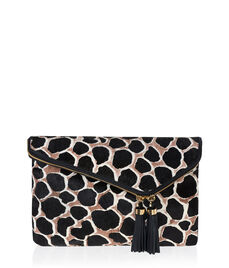 Debutante Haircalf Convertible Clutch