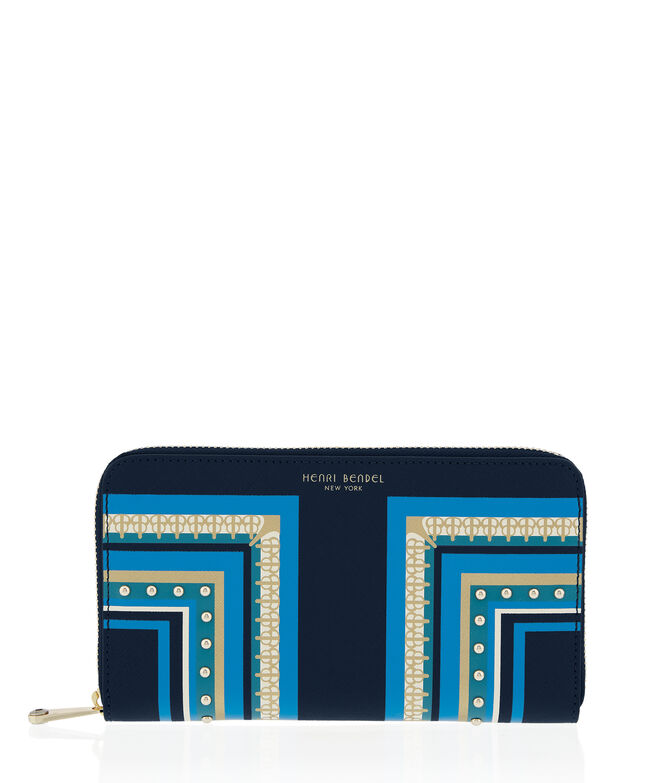 West 57th Scarf Printed Zip Around Continental Wallet