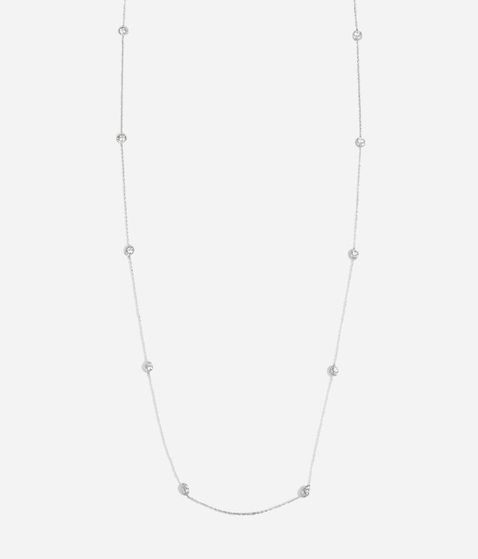 Luxe Pave Halo Station Necklace