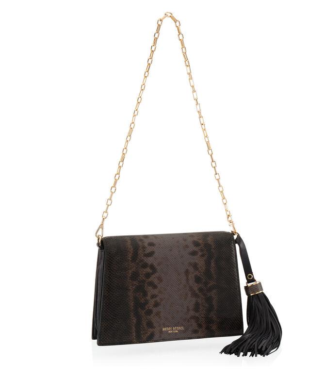 Premium Lizard Tassel Shoulder Bag