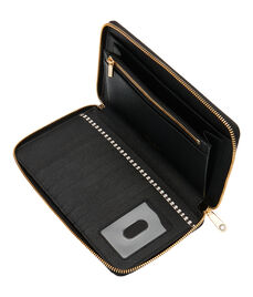 West 57th Stripe XL Zip Around Continental Wallet