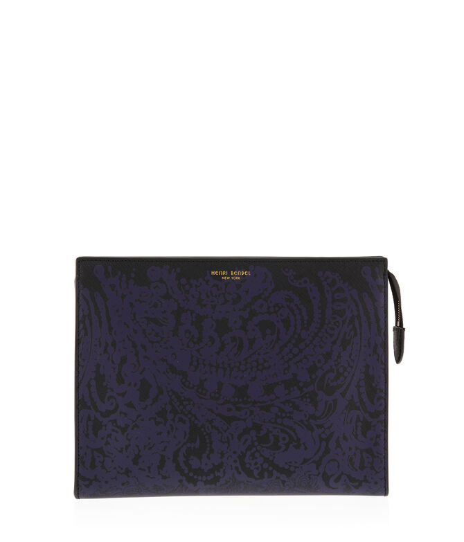 West 57th Damask Cosmetic Clutch