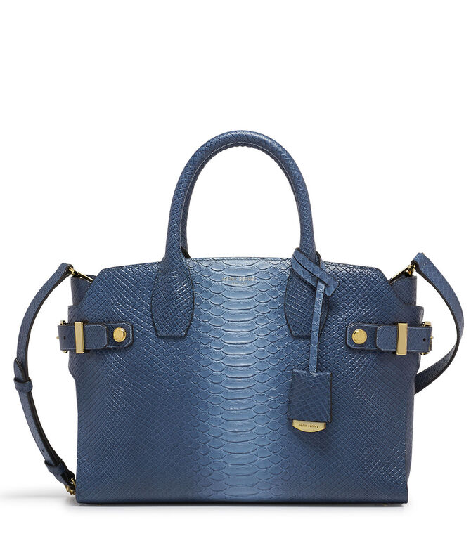Snake Embossed Carlyle Satchel