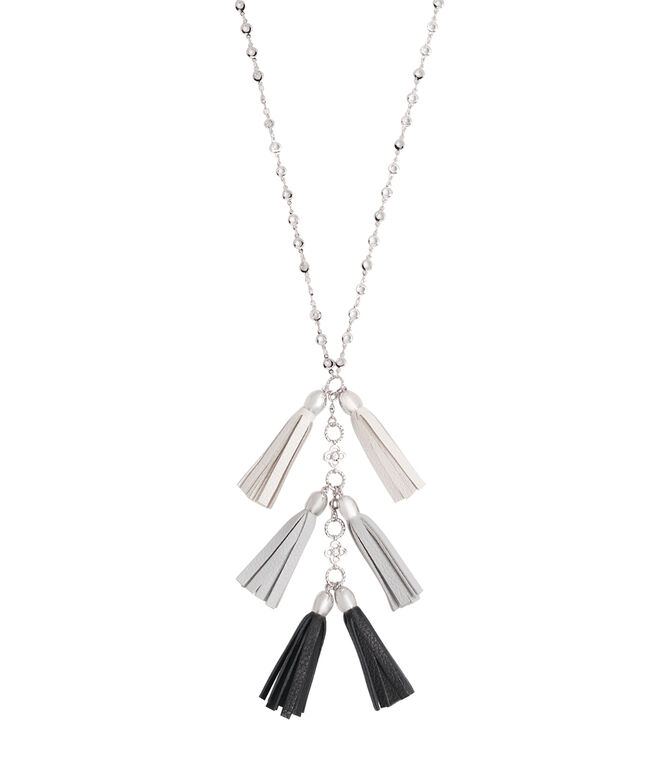 Leather Tassel Pendant