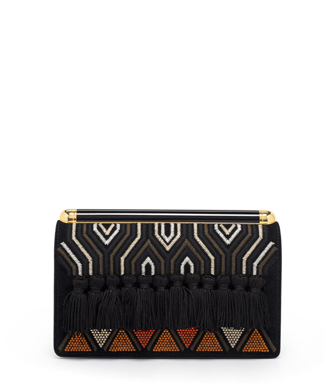 Centre Street Embellished Clutch