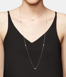 Luxe Mini Pyramid Station Necklace
