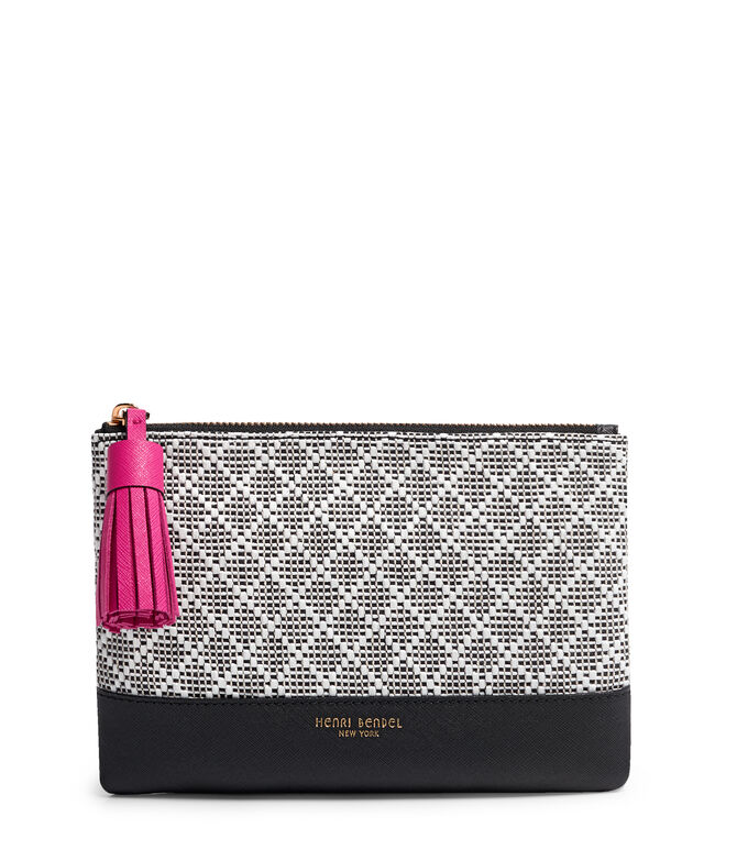 West 57th Straw Flat Pouch