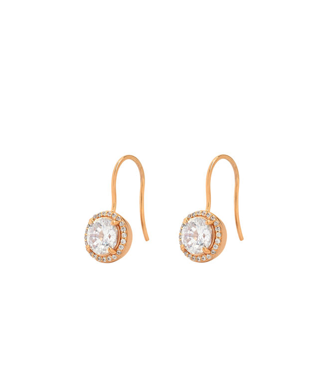 Luxe Pave Halo Drop Earring