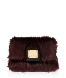 Faux Fur Flap Bag
