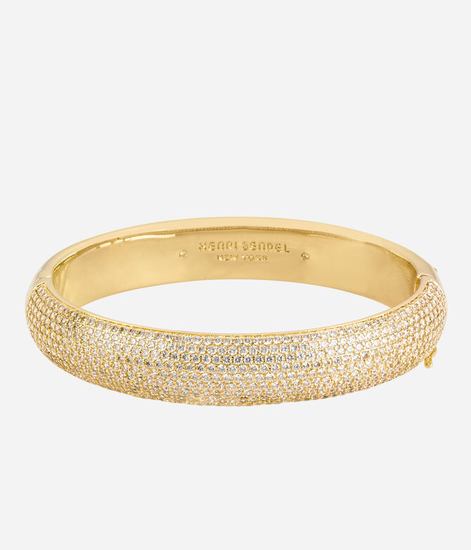 Luxe Pave Ribbon Bangle