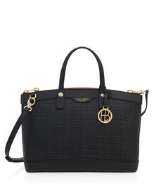 West 57th Perforated Satchel