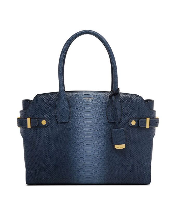 Snake Embossed Carlyle Tote