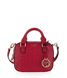 West 57th Croco Mini Travel Satchel