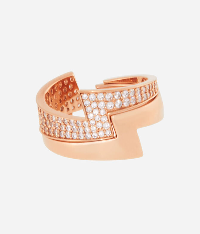 Luxe Glam Bolt Stack Ring