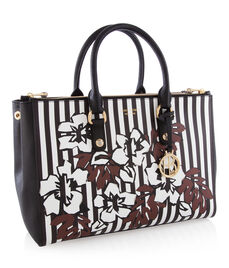 West 57th Floral Stripe Carryall