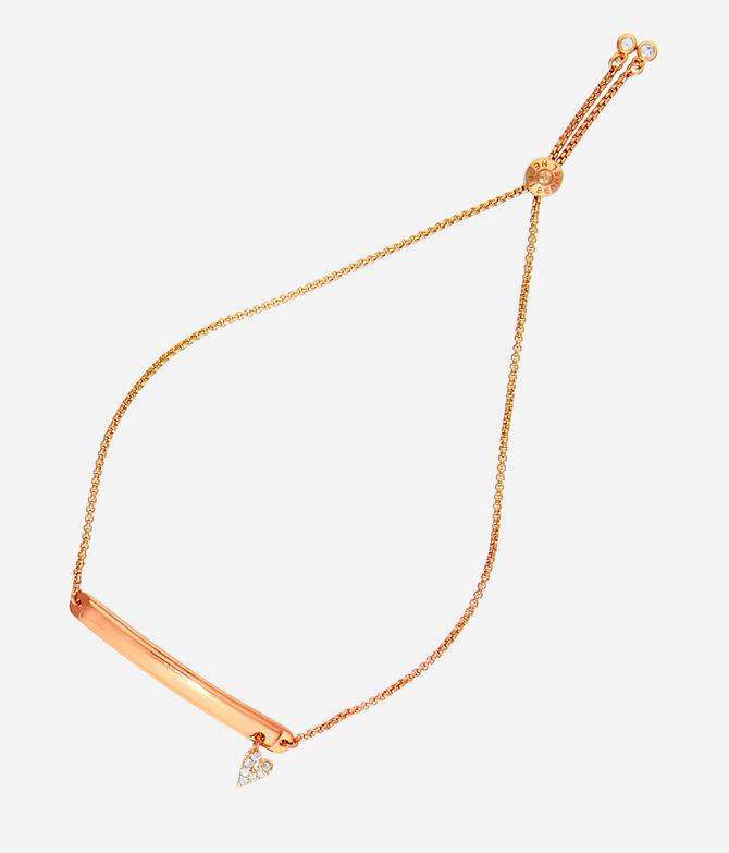 Luxe Pave Heart Delicate Bracelet