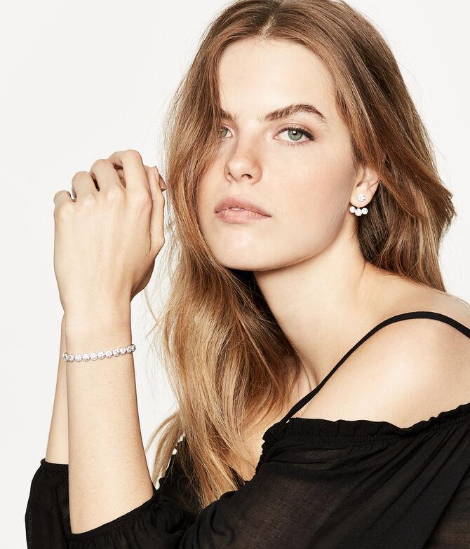Luxe Pave Halo Tennis Slider Bracelet
