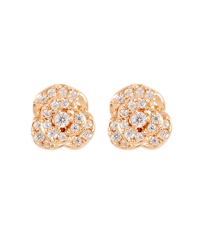 Luxe Rose Bouquet Stud Earring