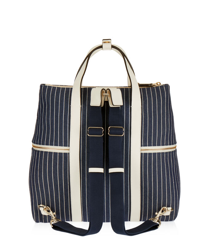 Jetsetter Striped Canvas Backpack