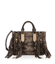 A-List Mini Snake Fringe Satchel