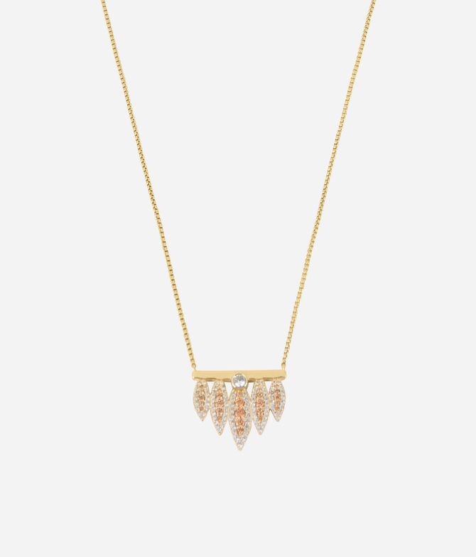 Luxe Tribal Feather Pendant