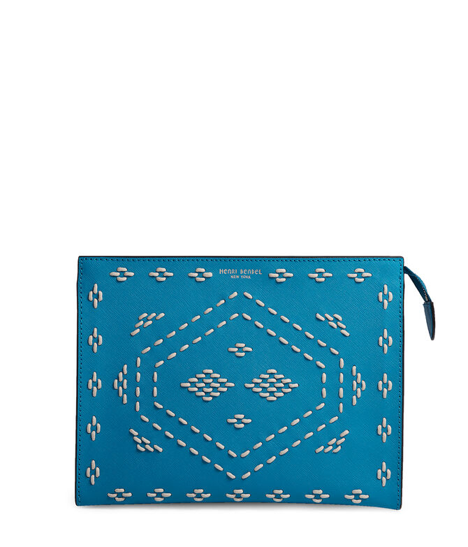 West 57th Stitch Laced Cosmetic Clutch
