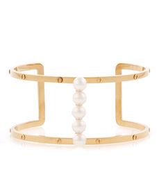 Luxe Pearl Harness Cuff Bracelet