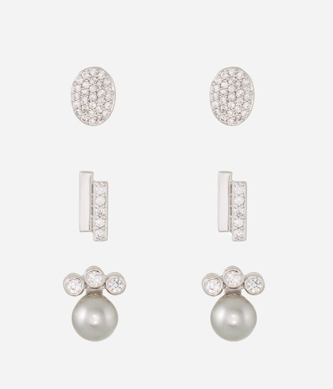 Luxe Sporty Disc Stud Set