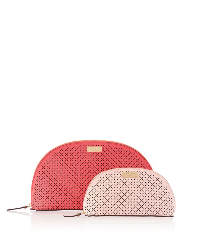 West 57th Perforated Cosmetic Bag Duo