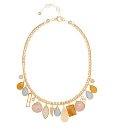 Palm Beach Semi Precious Cluster Collar