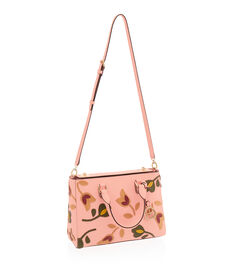West 57th Floral Applique Small Turnlock Satchel