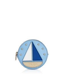West 57th Round Sailboat Coin Purse