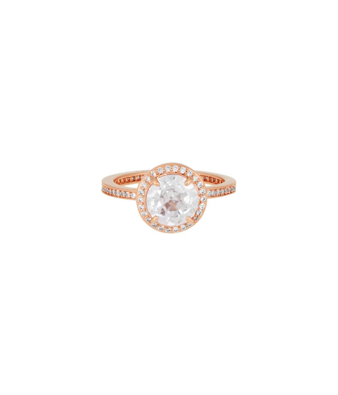 Luxe Pave Halo Ring