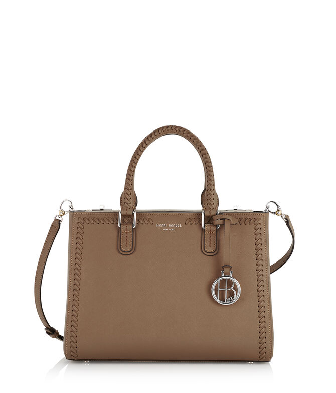 West 57th Whip Stitch Turnlock Satchel
