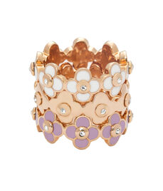 Enamel Petal Stack Ring