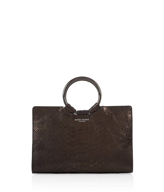 Marquis Snake Embossed Mini Satchel