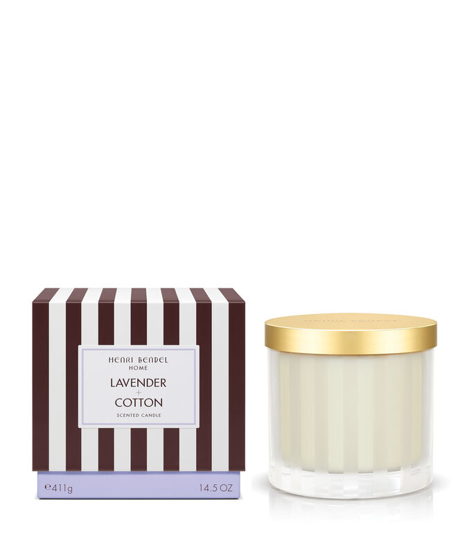 Lavender & Cotton Scented Candle