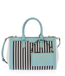 West 57th Perforated Striped Carryall