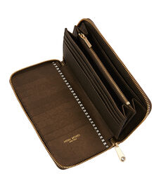 West 57th Pearlized Zip Around Continental Wallet