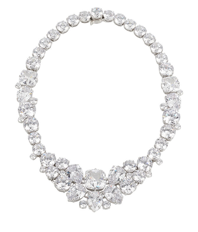 Black Tie Gala Cluster Necklace
