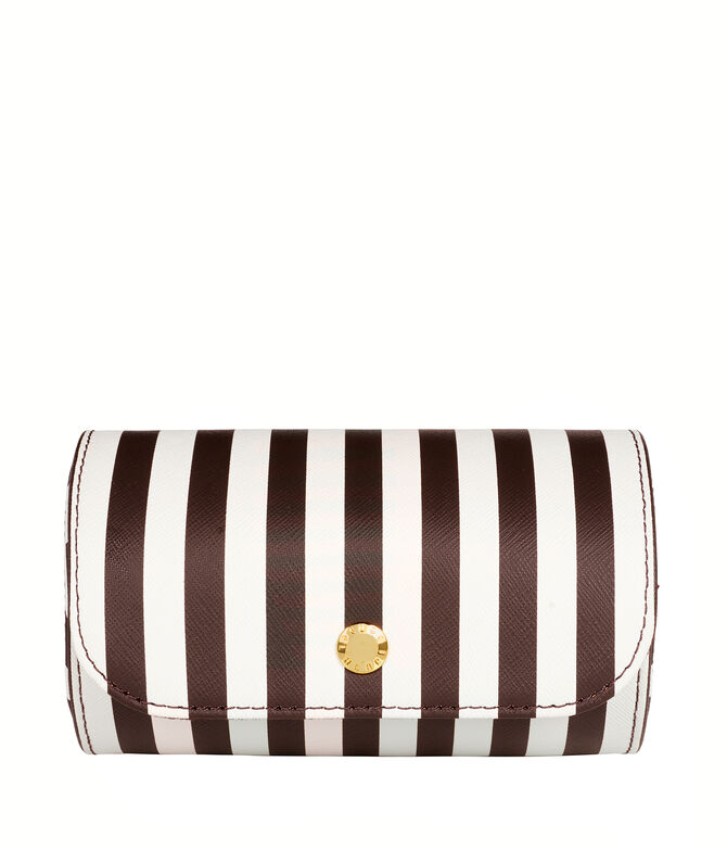 Black & White Stripe Bangle Travel Case