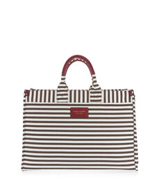 Signature Stripe Square Canvas Tote