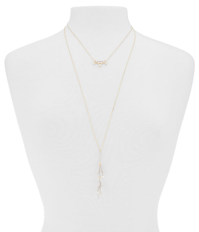 Luxe Flora Pearl Double Necklace