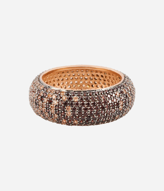 Luxe Pave Ribbon Ombre Ring