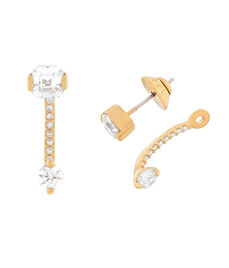 Luxe Asscher Cut Suspension Stud Earrings