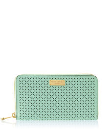 West 57th Perforated Zip Around Continental Wallet