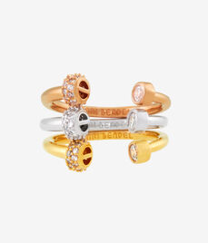 Luxe Tritone Nail Ring Set